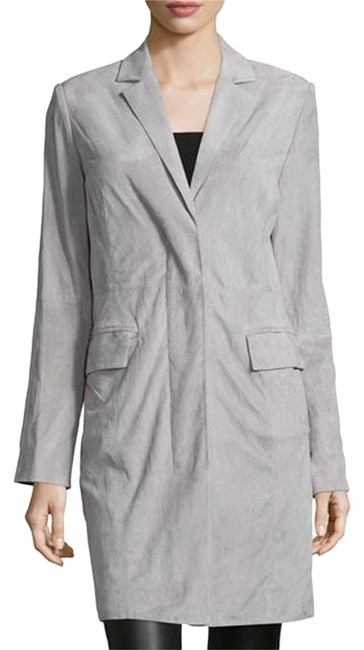 Preload https://img-static.tradesy.com/item/11350114/halston-gray-heritage-lamb-suede-cocoon-trench-coat-size-0-xs-0-1-650-650.jpg
