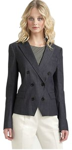 Theory Double-breasted Navy Stretchy Indigo Blazer