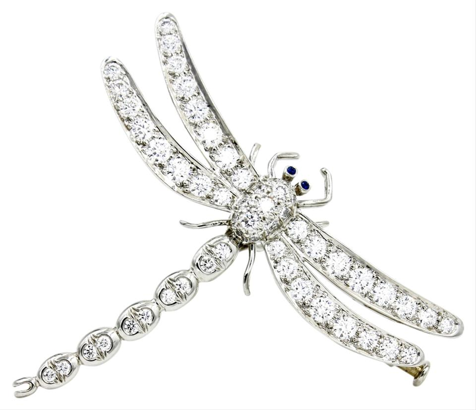 6ddf25c5c516e Tiffany & Co. Platinum Silver Blue Enchant Large Dragonfly Brooch with  Diamonds and Sapphires 47% off retail