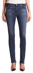 AG Adriano Goldschmied Designer Straight Leg Jeans-Medium Wash