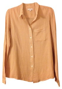 Gap Button Down Shirt Goldenrod