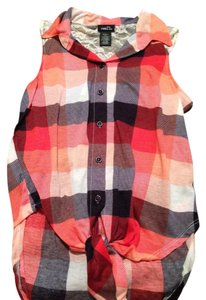 Rue 21 Top Red and Blue Plaid