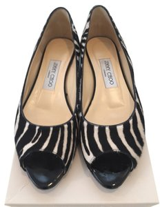 Jimmy Choo Pony Hair No Longer Made BLACK AND WHITE Flats