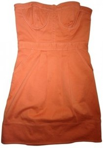 Dallin Chase short dress Clementine Orange Strapless Bustier on Tradesy