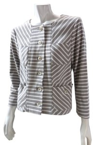 Anthropologie Stretchy Button Up Coat Light Taupe Jacket