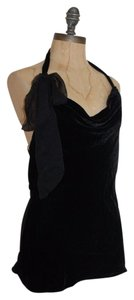 Matty M Haler Cowl Neck Top BLACK