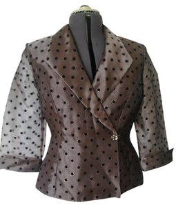 R & M Richards Taupe/Black Jacket