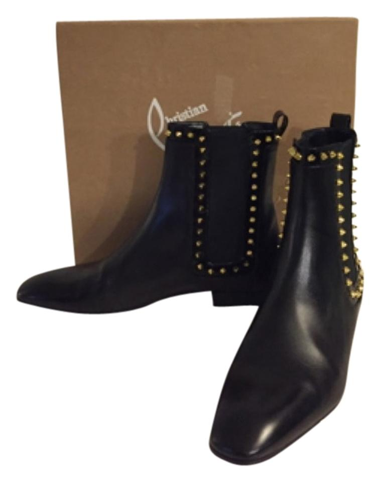 timeless design 14ead fa20a Christian Louboutin Black Marianne Red Sole Chelsea Black/Golden  Boots/Booties Size US 9.5 Regular (M, B) 37% off retail