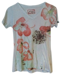 Aventura Clothing Spring Sheer T-shirt Floral Comfortable T Shirt Baby Blue