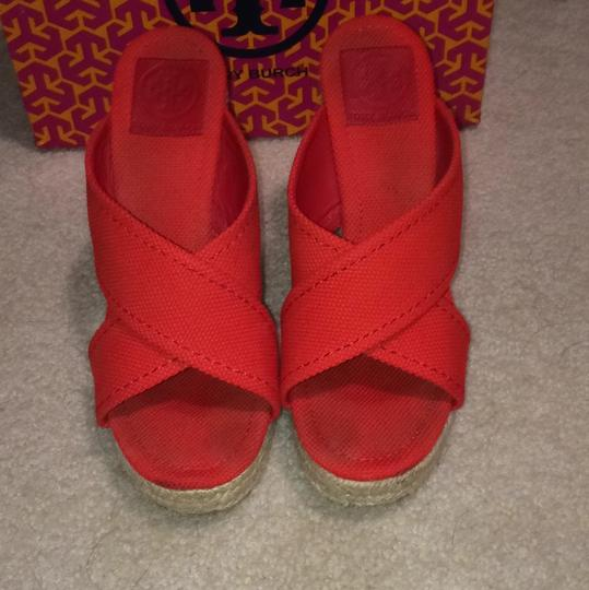 Tory Burch Red Wedges Image 1