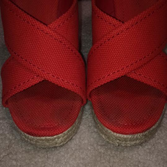 Tory Burch Red Wedges Image 2