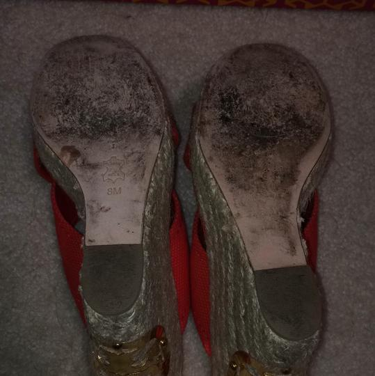 Tory Burch Red Wedges Image 4