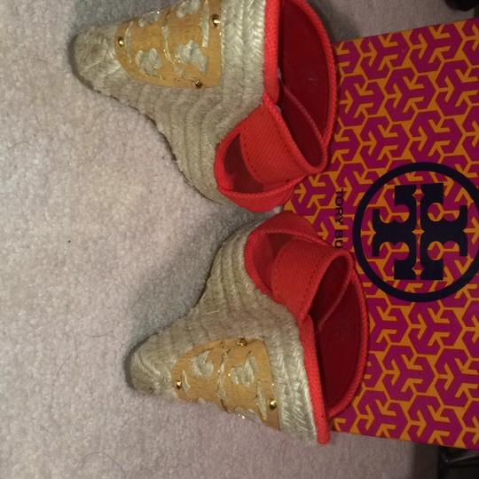Tory Burch Red Wedges Image 5