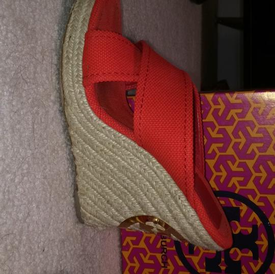 Tory Burch Red Wedges Image 6