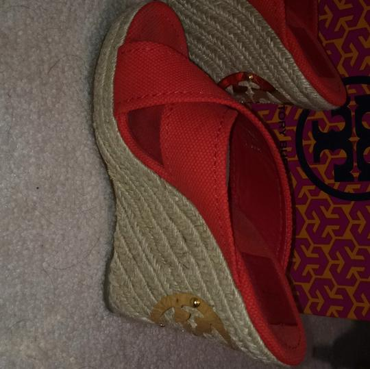 Tory Burch Red Wedges Image 7