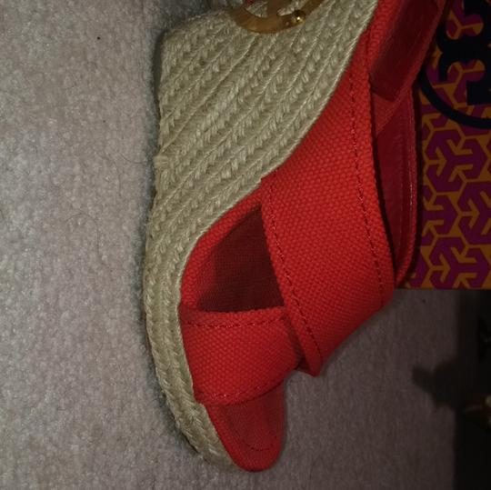 Tory Burch Red Wedges Image 8