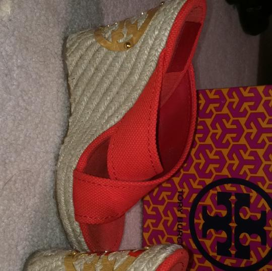 Tory Burch Red Wedges Image 9