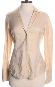 Ann Taylor Button Down Shirt Light Tan / Beige