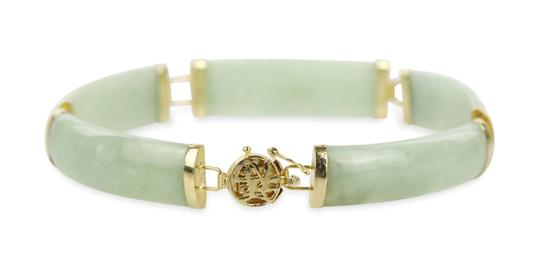 Other Apple Jade 4 Piece Set with 14k Yellow Gold Image 1