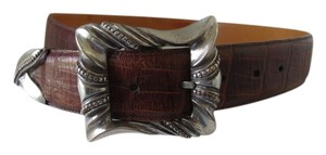 Brighton Brighton Leather Belt Size Medium Quality Silver Hardware