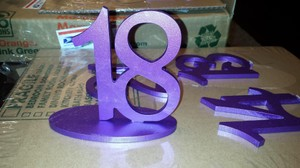 Purple Wooden Table Numbers