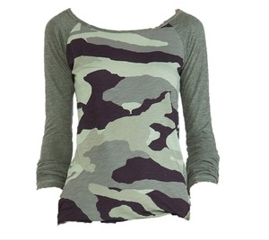 Monrow T Shirt Camo Long Sleeve