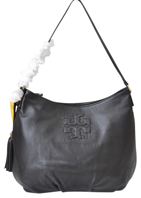 Item - Thea With Tag Black Leather Hobo Bag