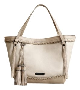 Burberry Medium Leather / In *soft Leather With Leather Trim. *open Top With Snap-clasp Closure Flat Leather Handles. Tote in WOVEN - Antique White