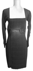 Anna Molinari Plated Sheer Dress