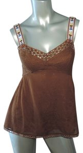 Catherine Malandrino New With Tag Hippie Festival Top copper brown