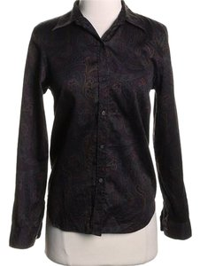 Lauren Ralph Lauren Button Down Shirt Purple/Burgundy/Jewel Tones/Multi Paisley