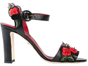 Dolce&Gabbana Black/Red Sandals