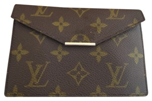 Louis Vuitton Business Card Brown Clutch