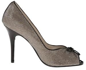 Caparros Sparkle Patent Heels Champagne and black Formal