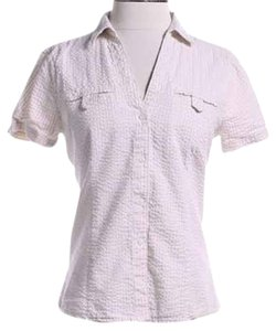 Eddie Bauer Button Down Shirt Cream