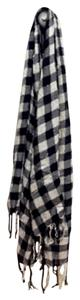 Other black and white plaid scarf