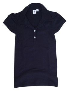 Petit Bateau Polo French Classic Preppy Basic T Shirt Black
