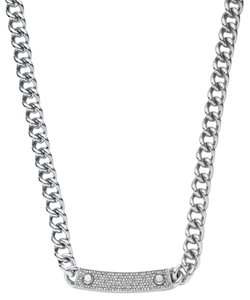 Michael Kors NWT Michael Kors Pave Pave Silver-Tone Chain-Link Necklace