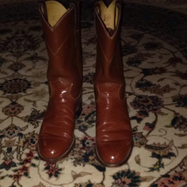 Justin Boots Saddle Brown Cowboy Boots/Booties Size US 6.5 Regular (M, B) Justin Boots Saddle Brown Cowboy Boots/Booties Size US 6.5 Regular (M, B) Image 1