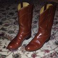 Justin Boots Saddle Brown Cowboy Boots/Booties Size US 6.5 Regular (M, B) Justin Boots Saddle Brown Cowboy Boots/Booties Size US 6.5 Regular (M, B) Image 4