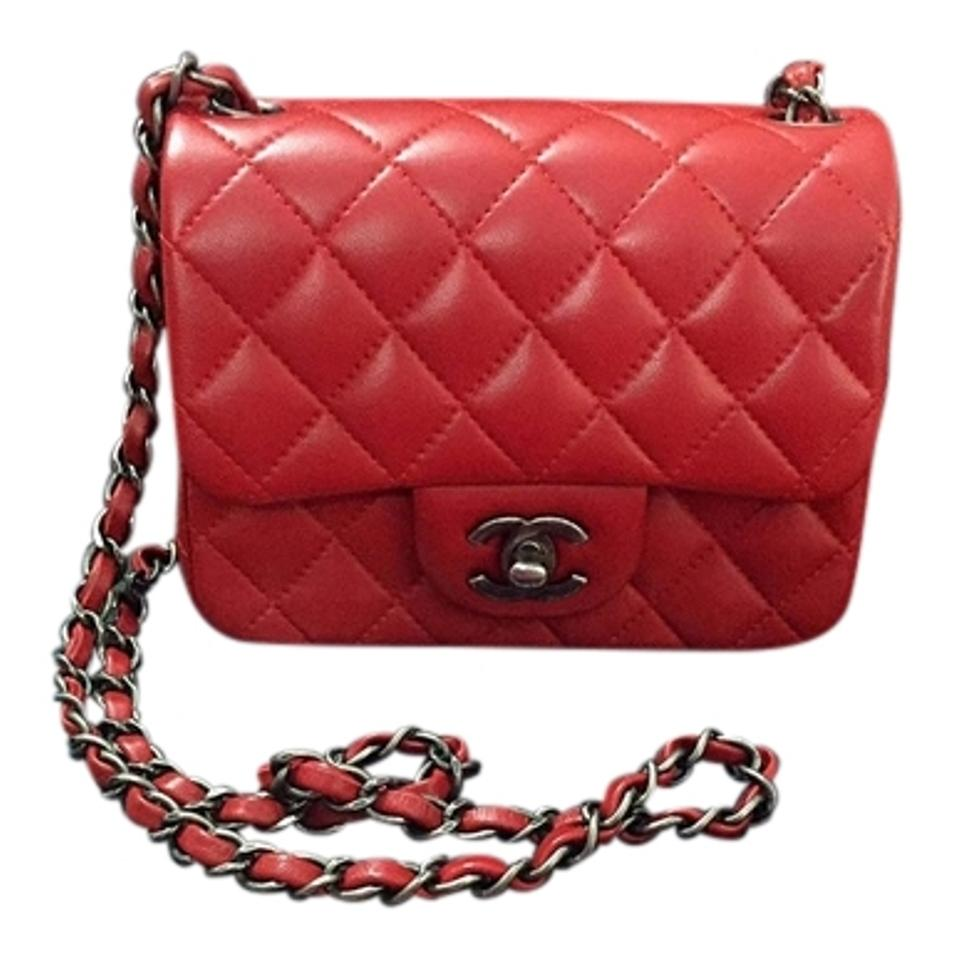 950588ec4e10 Chanel Classic Flap Classic Mini Red Lambskin Leather Cross Body Bag ...