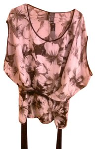 Bisou Bisou Top Grey, white and Black Floral