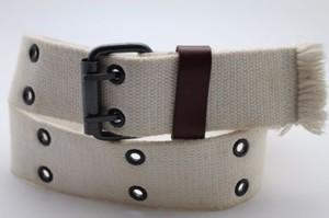 American Eagle Outfitters American Eagle Men Women Belt Off White Army Fashion Metal Buckle One
