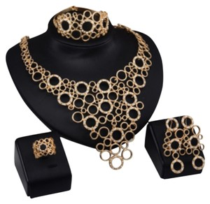 Multi Layer Statement Choker Jewelry Set