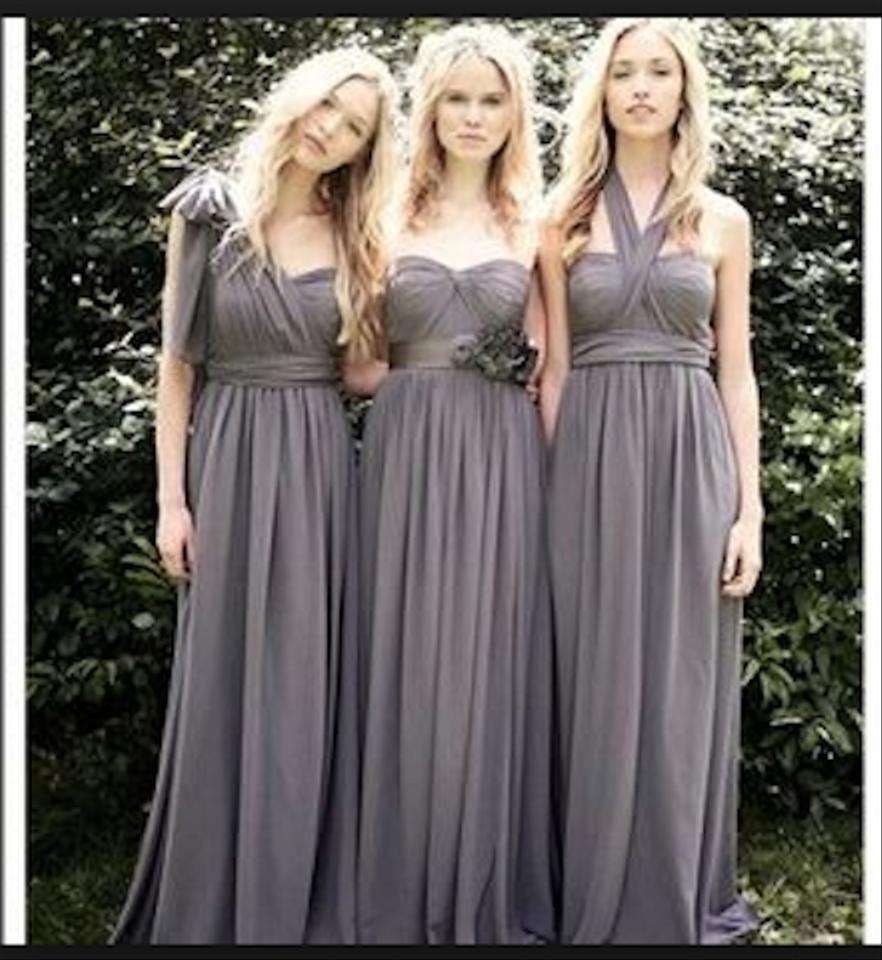 Jenny yoo bridesmaids dresses on sale up to 80 off at tradesy jenny yoo charcoal luxe chiffon aidian formal bridesmaidmob dress size 6 s ombrellifo Images