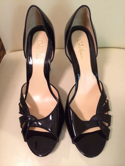 Cole Haan Patent Leather Designer Sandals Black Pumps