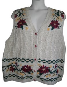 Venezia by Lane Bryant Floral Wide Arm Holes Vest