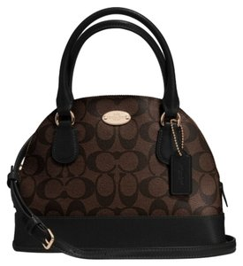 Coach F34083 Satchel in LIGHT GOLD/BROWN/BLACK