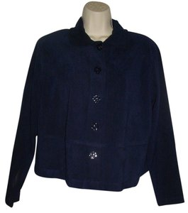 Clio Velvet Finish Top Navy Blue