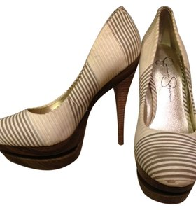 Jessica Simpson Pump Platform Tan and Cream Platforms